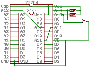 24 to 28 pin EPROM
